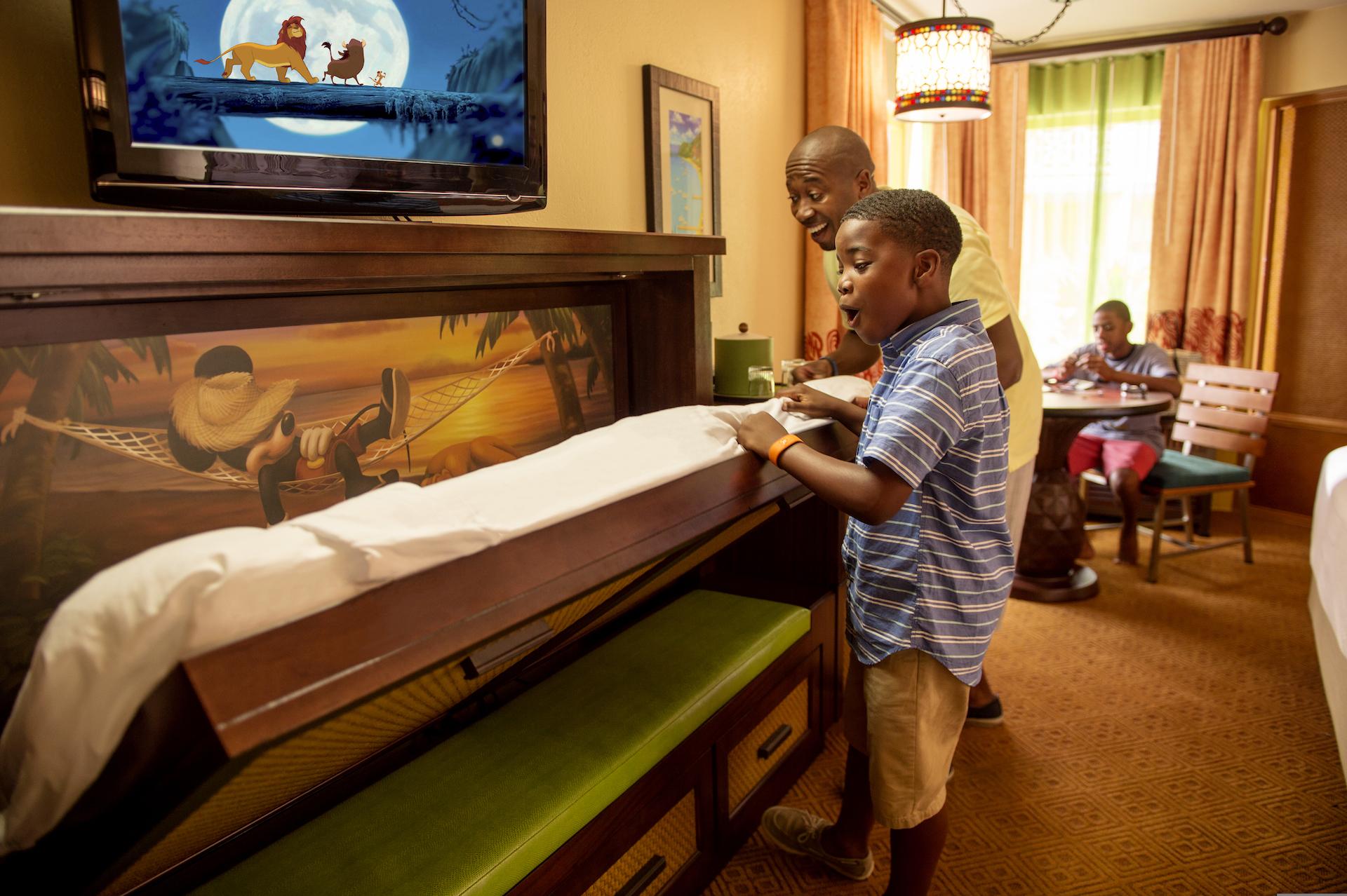 Walt Disney World Resorts Child Sized Pulldown Bed